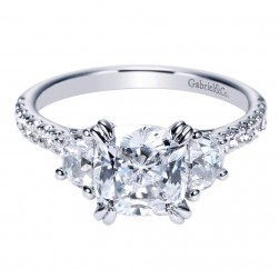 Gabriel 14 Karat Contemporary Engagement Ring ER9044W44JJ
