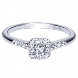 Gabriel 14 Karat Contemporary Engagement Ring ER98724W44JJ