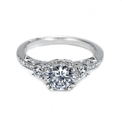 Tacori Platinum Dantela Engagement Ring 2623RDMDP