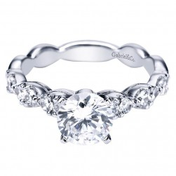 Gabriel 14 Karat Contemporary Engagement Ring ER3990W44JJ