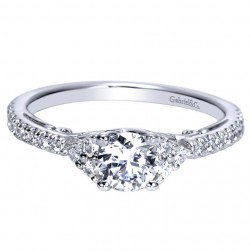 Gabriel 14 Karat Contemporary Engagement Ring ER98675W44JJ