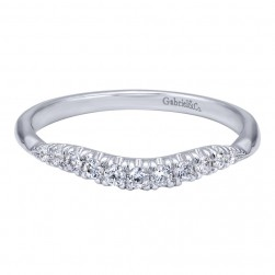 Gabriel 14 Karat Contemporary Wedding Band WB10424W44JJ