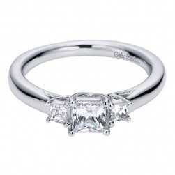 Gabriel 14 Karat Contemporary Engagement Ring ER5913W44JJ