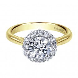 Gabriel 14 Karat Contemporary Engagement Ring ER7721M44JJ