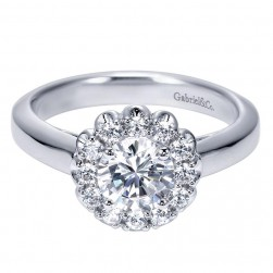 Gabriel 14 Karat Contemporary Engagement Ring ER7830W44JJ