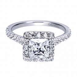 Gabriel 14 Karat Contemporary Engagement Ring ER7842W44JJ