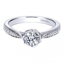 Gabriel 14 Karat Contemporary Engagement Ring ER910067W44JJ