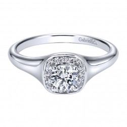 Gabriel 14 Karat Contemporary Engagement Ring ER911902R0W44JJ