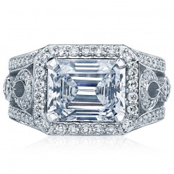 HT2610EC10X8 Platinum Tacori RoyalT Engagement Ring