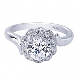 Gabriel 14 Karat Contemporary Engagement Ring ER10241W44JJ