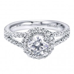 Gabriel 14 Karat Contemporary Engagement Ring ER4114W44JJ