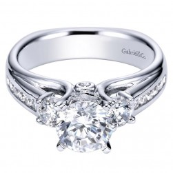 Gabriel 14 Karat Contemporary Engagement Ring ER4194W44JJ