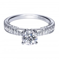 Gabriel 14 Karat Contemporary Engagement Ring ER8716W44JJ