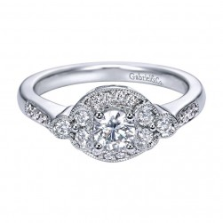 Gabriel 14 Karat Contemporary Engagement Ring ER94040W44JJ