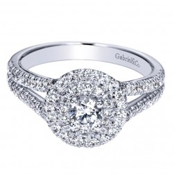 Gabriel 14 Karat Contemporary Engagement Ring ER98647W44JJ