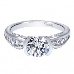 Gabriel 14 Karat Contemporary Engagement Ring ER10756W44JJ