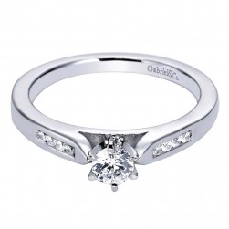 Gabriel 14 Karat Contemporary Engagement Ring ER96352W44JJ