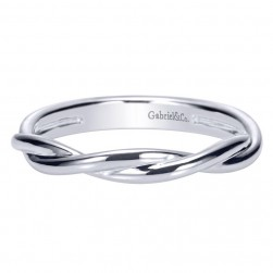 Gabriel 14 Karat Contemporary Wedding Band WB8954W4JJJ