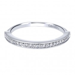Gabriel 14 Karat Contemporary Wedding Band WB911933R0W44JJ