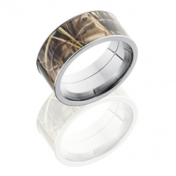 Lashbrook CAMO8F1321-RTMAX4SS2UMIL POLISH Camo Wedding Ring or Band