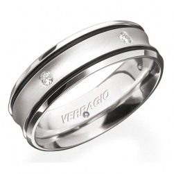 Verragio 18 Karat In-Gauge Diamond Wedding Band RUD-7906