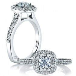 A.JAFFE Platinum Signature Engagement Ring MES572