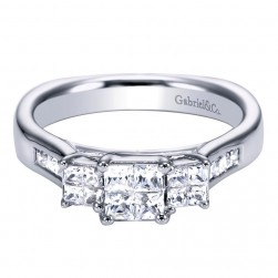 Gabriel 14 Karat Contemporary Engagement Ring ER4321W44JJ