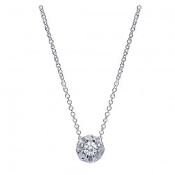 Gabriel Fashion 14 Karat Lusso Diamond Necklace NK1444W44JJ