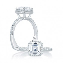 A.JAFFE Platinum Signature Engagement Ring MES639