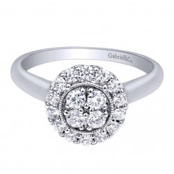 Gabriel 14 Karat Contemporary Engagement Ring ER10777W44JJ