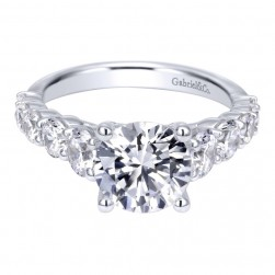 Gabriel 14 Karat Contemporary Engagement Ring ER11759R10W44JJ