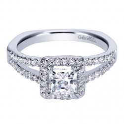 Gabriel 14 Karat Contemporary Engagement Ring ER94117W44JJ