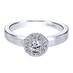 Gabriel 14 Karat Contemporary Engagement Ring ER96072W44JJ