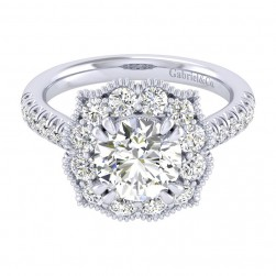 Gabriel 14 Karat Perfect Match Engagement Ring ER039C8ACW44JJ