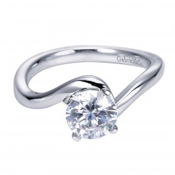 Gabriel Platinum Contemporary Engagement Ring ER6683PTJJJ