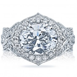 HT2611OV11X9 Platinum Tacori RoyalT Engagement Ring