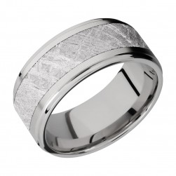 Lashbrook 10FGE16/METEORITE Titanium Wedding Ring or Band