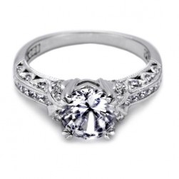 Tacori Crescent Platinum Engagement Ring HT2371