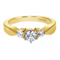 Gabriel 14 Karat Contemporary Engagement Ring ER1705M43JJ