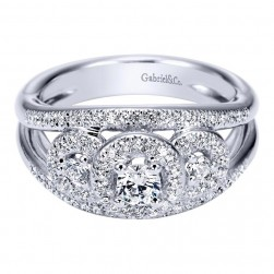 Gabriel 14 Karat Contemporary Engagement Ring ER95408W44JJ