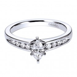 Gabriel 14 Karat Contemporary Engagement Ring ER96353W44JJ