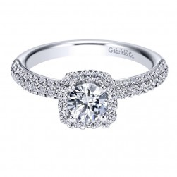 Gabriel 14 Karat Contemporary Engagement Ring ER97713W44JJ