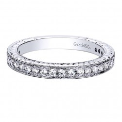 Gabriel 14 Karat Contemporary Wedding Band WB9420W44JJ