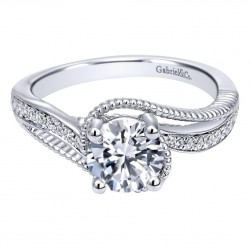 Gabriel 14 Karat Contemporary Engagement Ring ER10314W44JJ