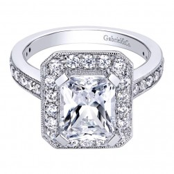 Gabriel 14 Karat Contemporary Engagement Ring ER9336W44JJ