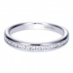 Gabriel 14 Karat Contemporary Wedding Band WB8895W44JJ