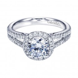 Gabriel 14 Karat Contemporary Engagement Ring ER7260W44JJ