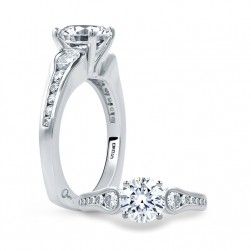 A.JAFFE Platinum Signature Engagement Ring MES668