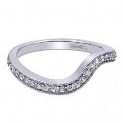 Gabriel 14 Karat Contemporary Wedding Band WB10474W44JJ