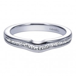 Gabriel 14 Karat Contemporary Wedding Band WB5738W44JJ